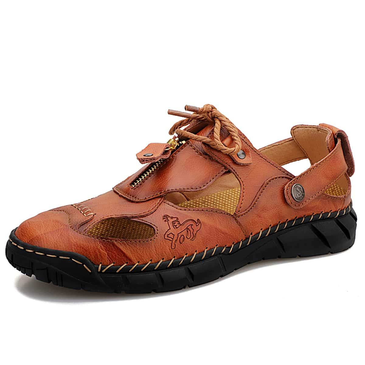 Мужские сандалии с молнией