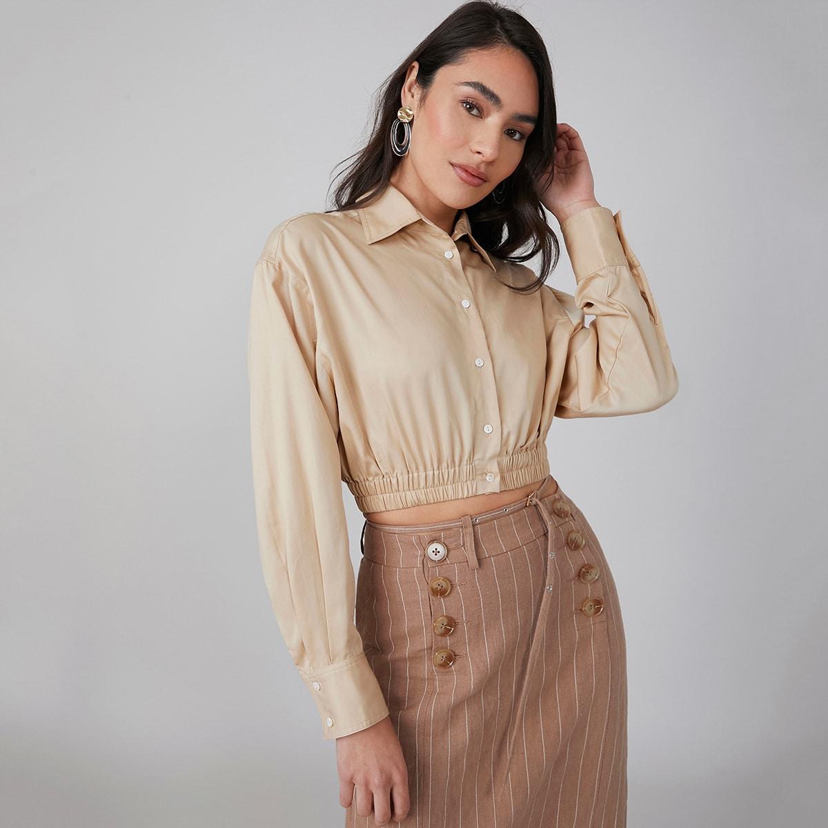 Короткая блузка из 100% лиоцелла