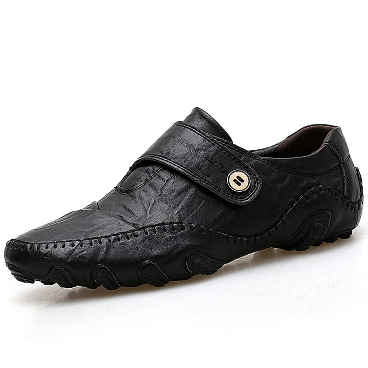 SHEIN Gestikte loafers voor heren