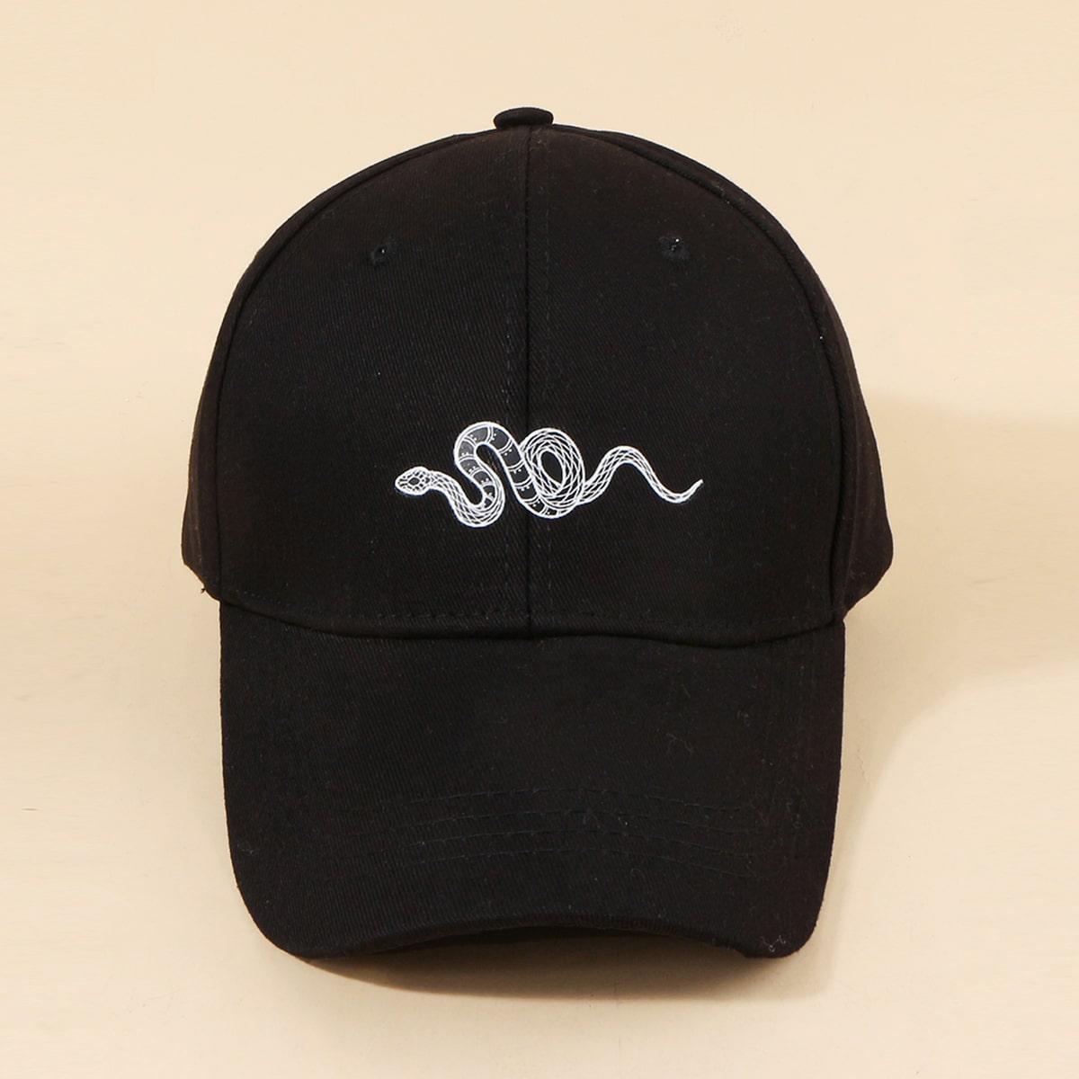 Männer Baseball Kappe mit Serpentin Muster