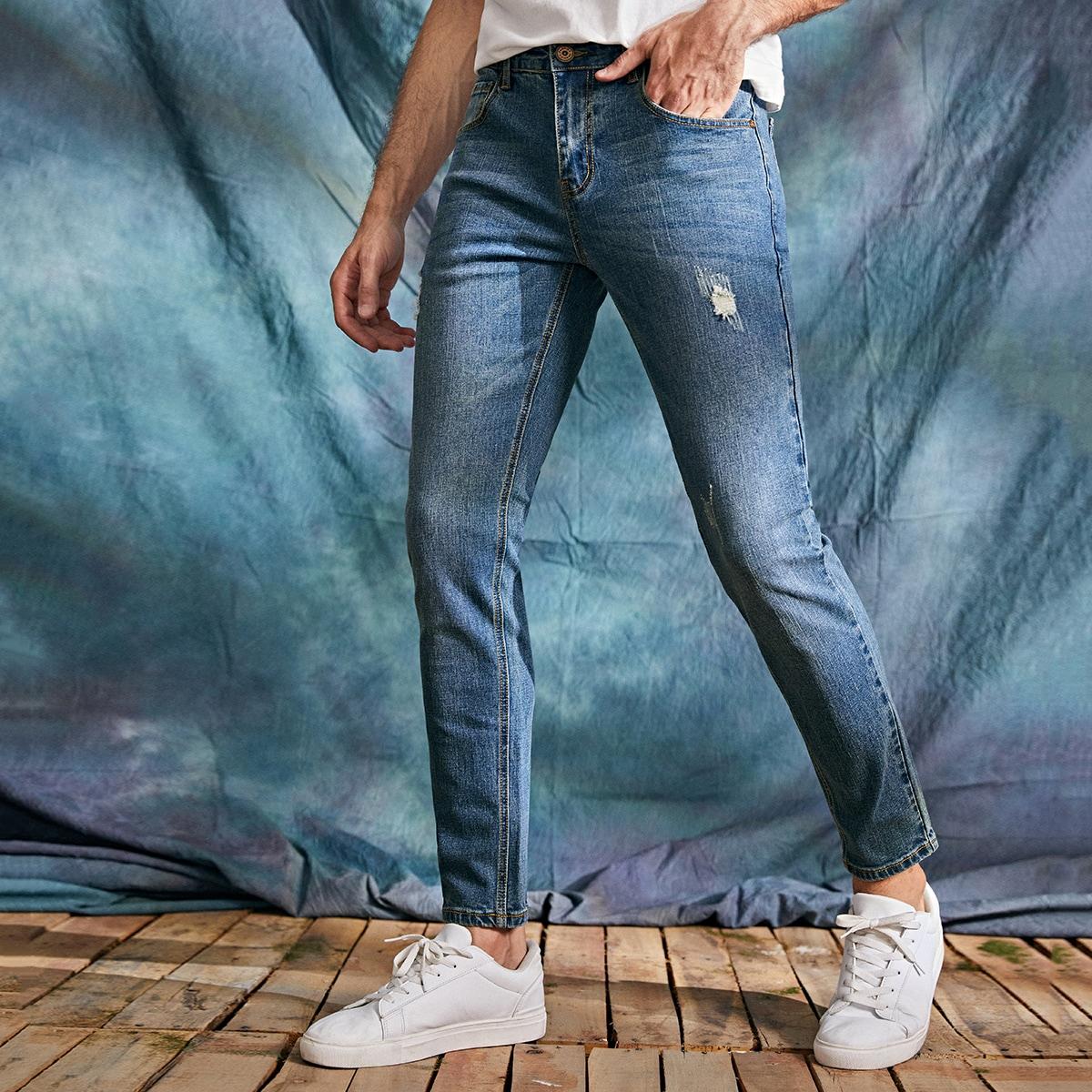 Карман Одноцветный Мужские джинсы по цене 2 270