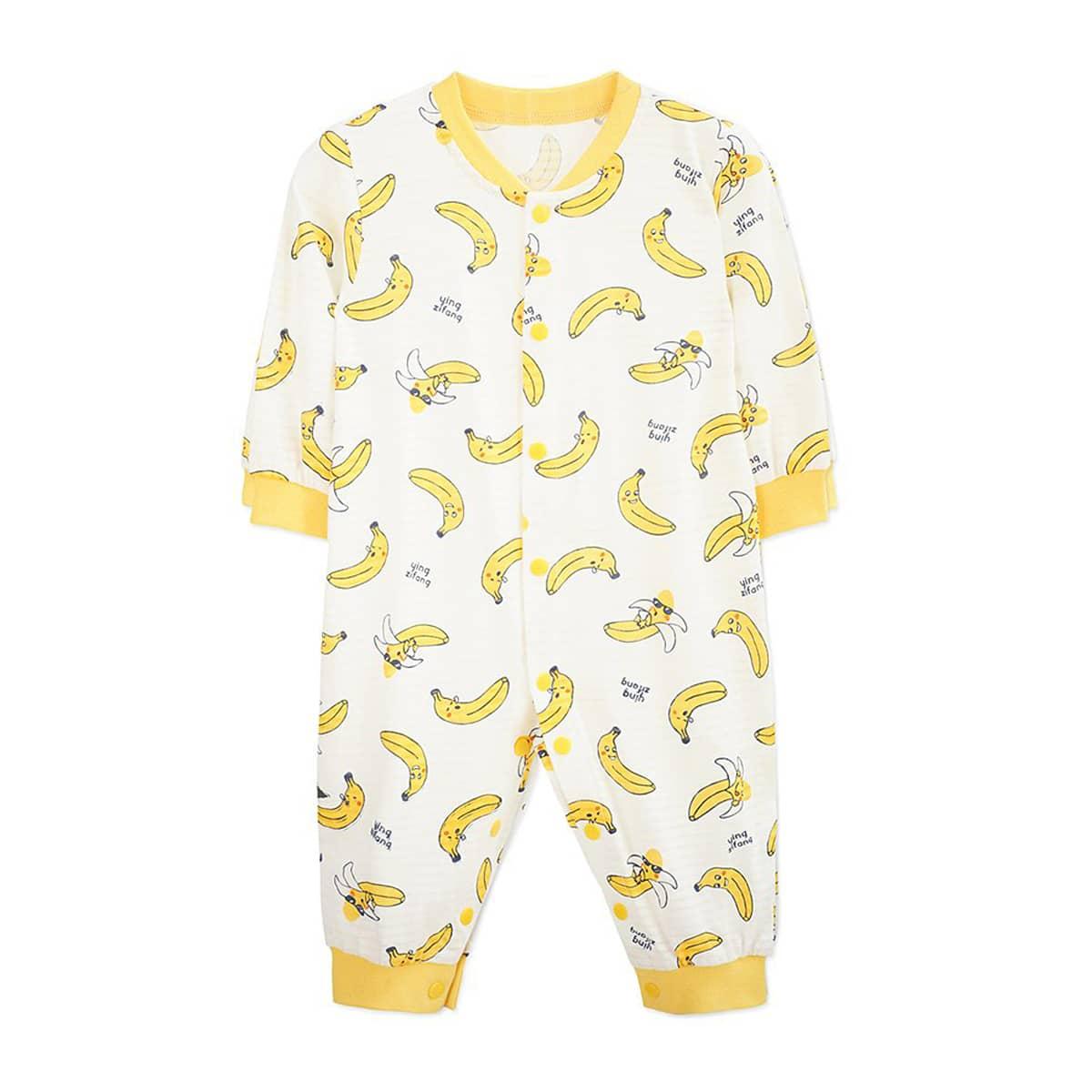Комбинезон с принтом банана для мальчиков по цене 700