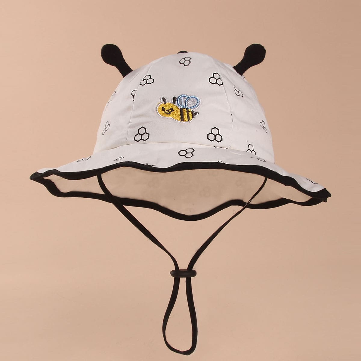 Baby Fischerhut mit Biene Stickereien