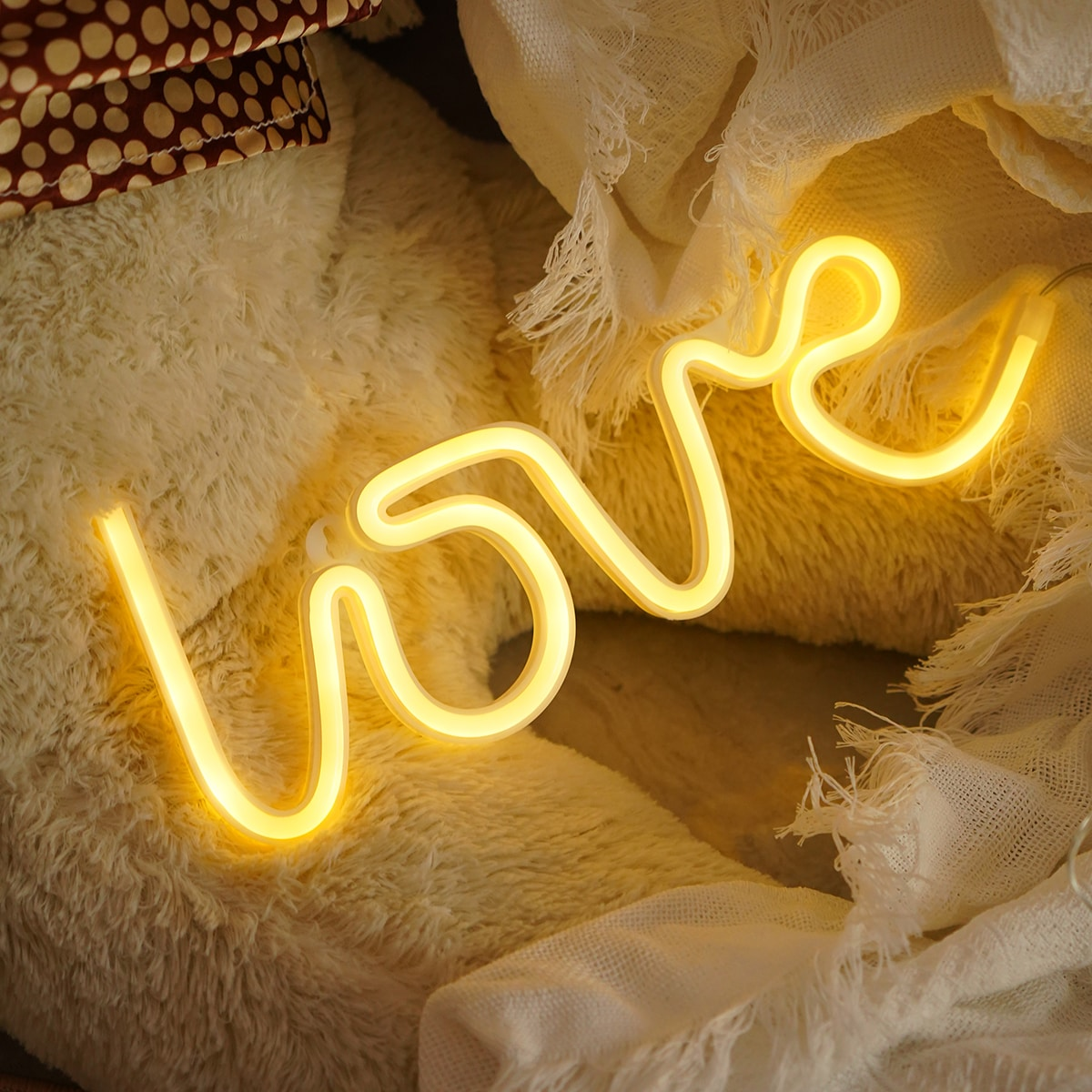 1pc Letter Design Decorative Light, SHEIN  - buy with discount