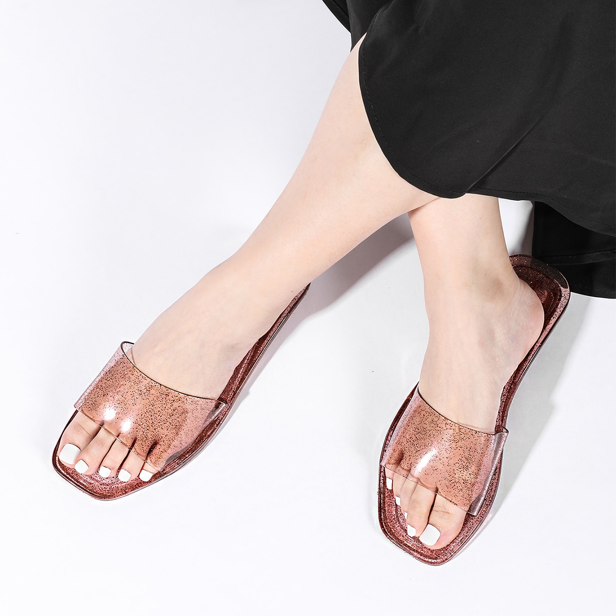 SHEIN Modieus Vlak Slippers