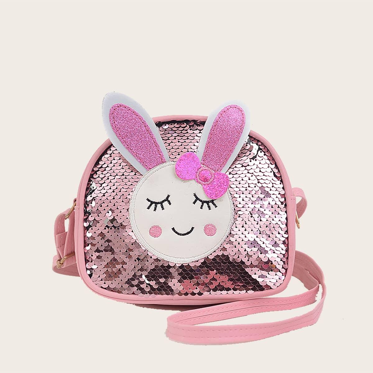 Регулируемый Блеск Мультяшный принт Детские сумки через плечо SheIn skbag18210302011