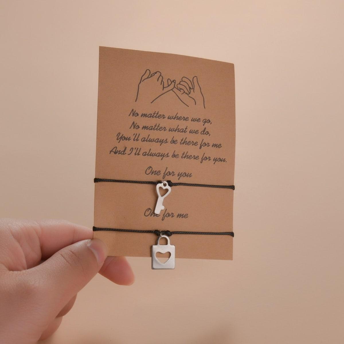 Key Charm Bracelet, SHEIN  - buy with discount