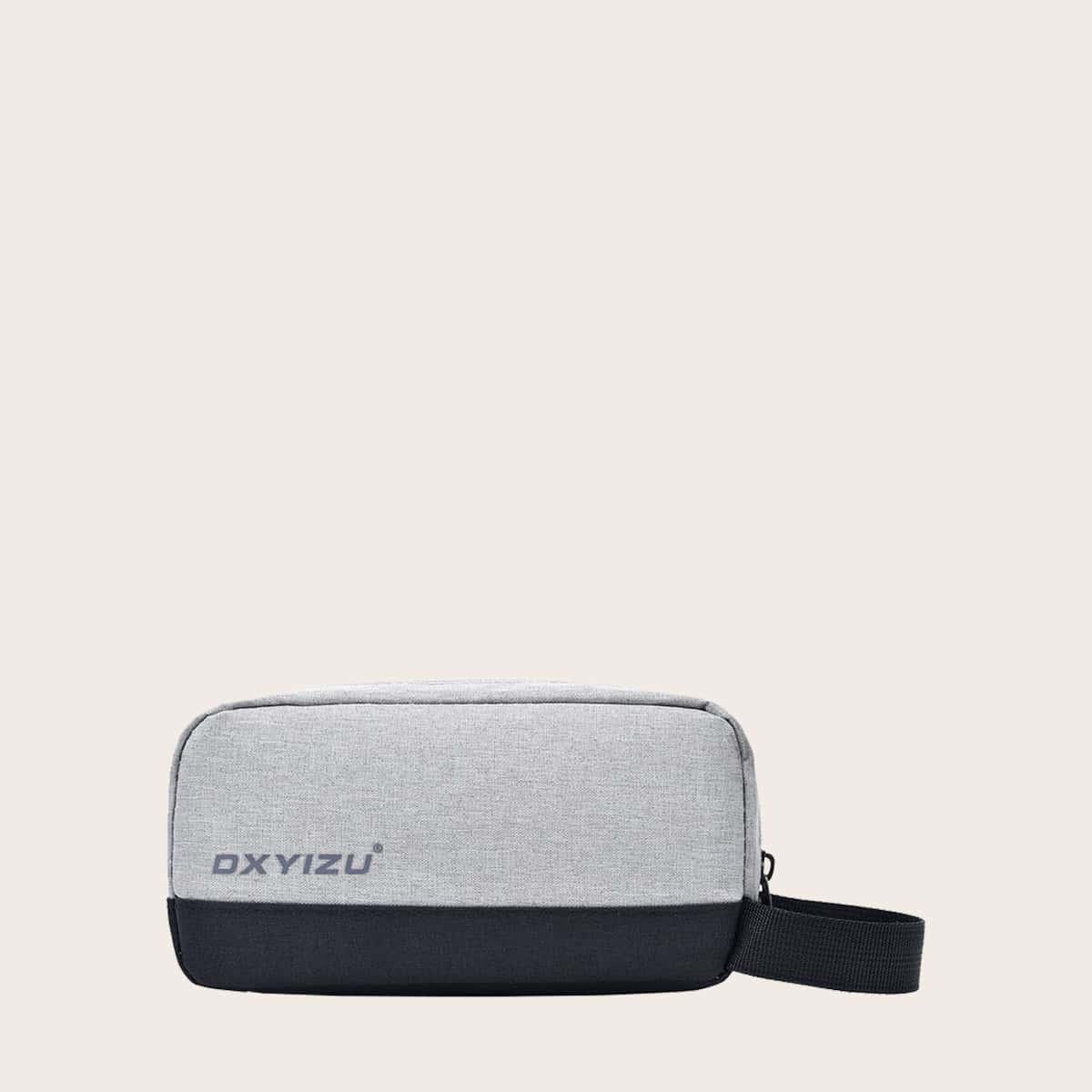 Мужская сумка-клатч с текстовым принтом