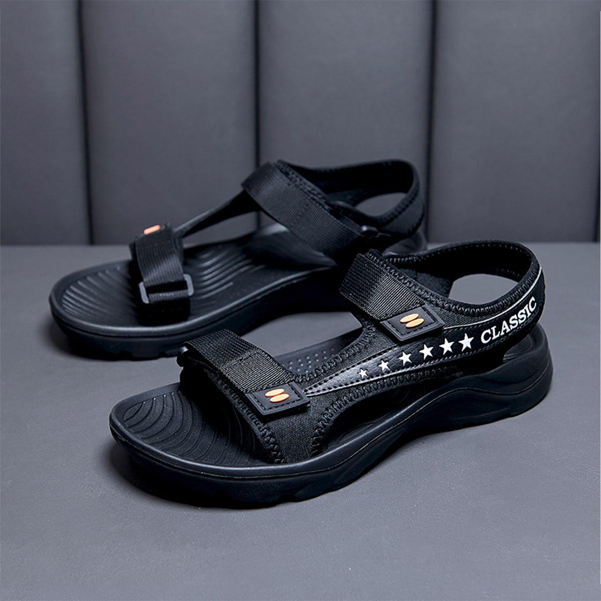 SHEIN Star Graphic-sandalen voor heren met dubbele klittenbandsluiting