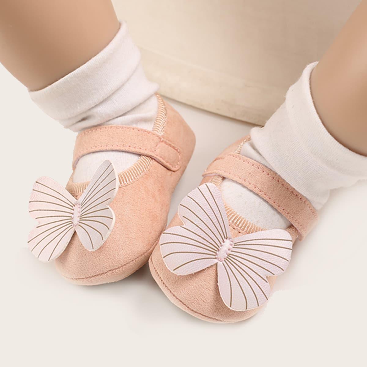 Baby Girl Bow Decor Velcro Strap Sandals