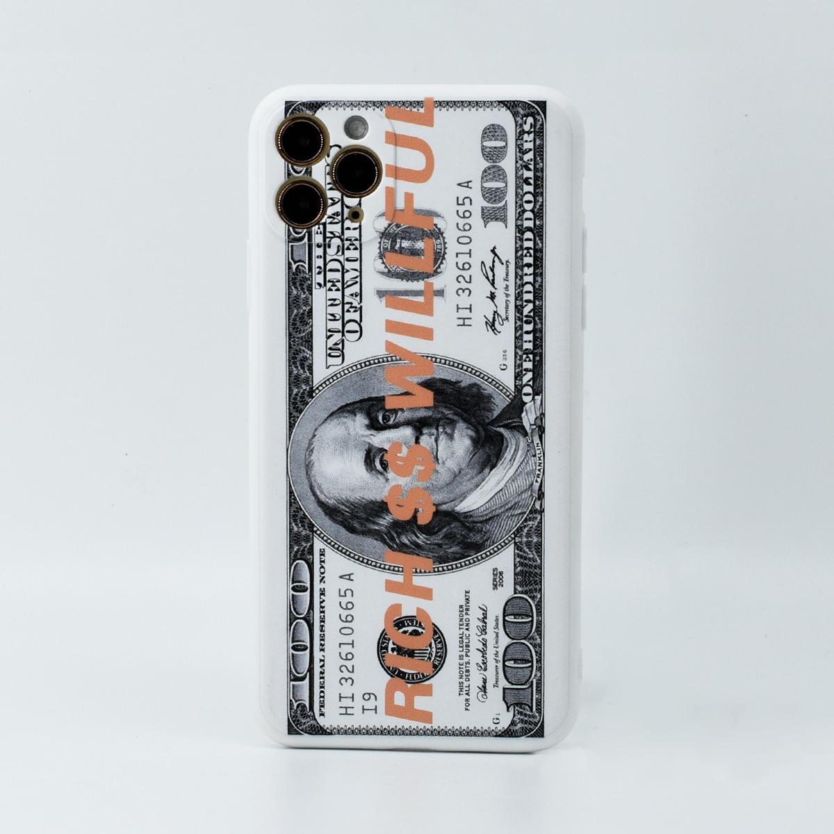 Custodia iPhone con motivo dollar
