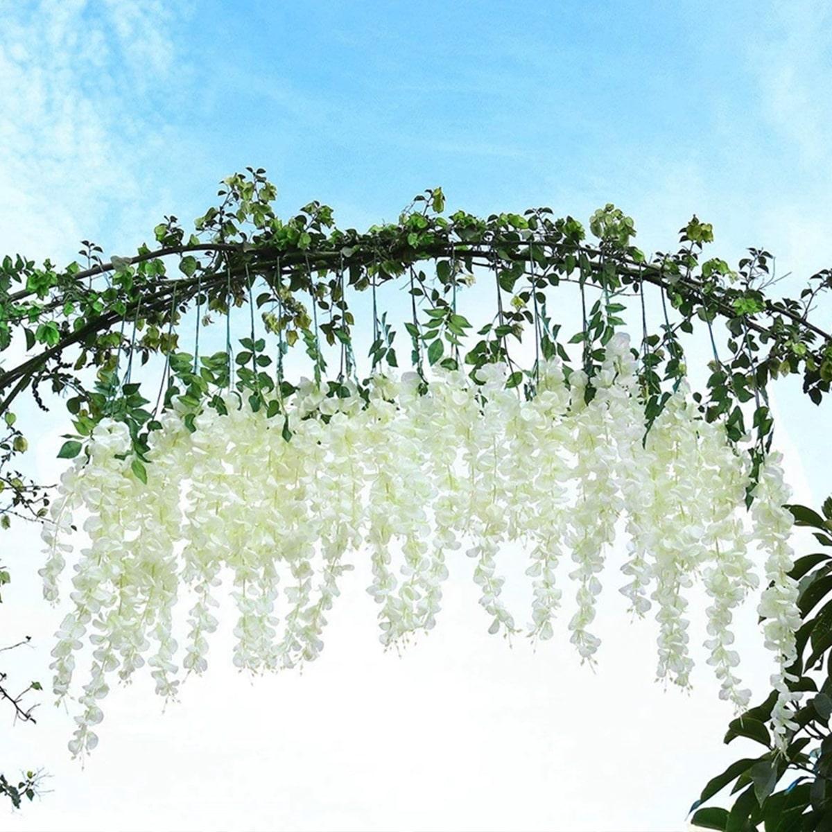 1 Stück künstliche Blumen mit 3 Zweigen