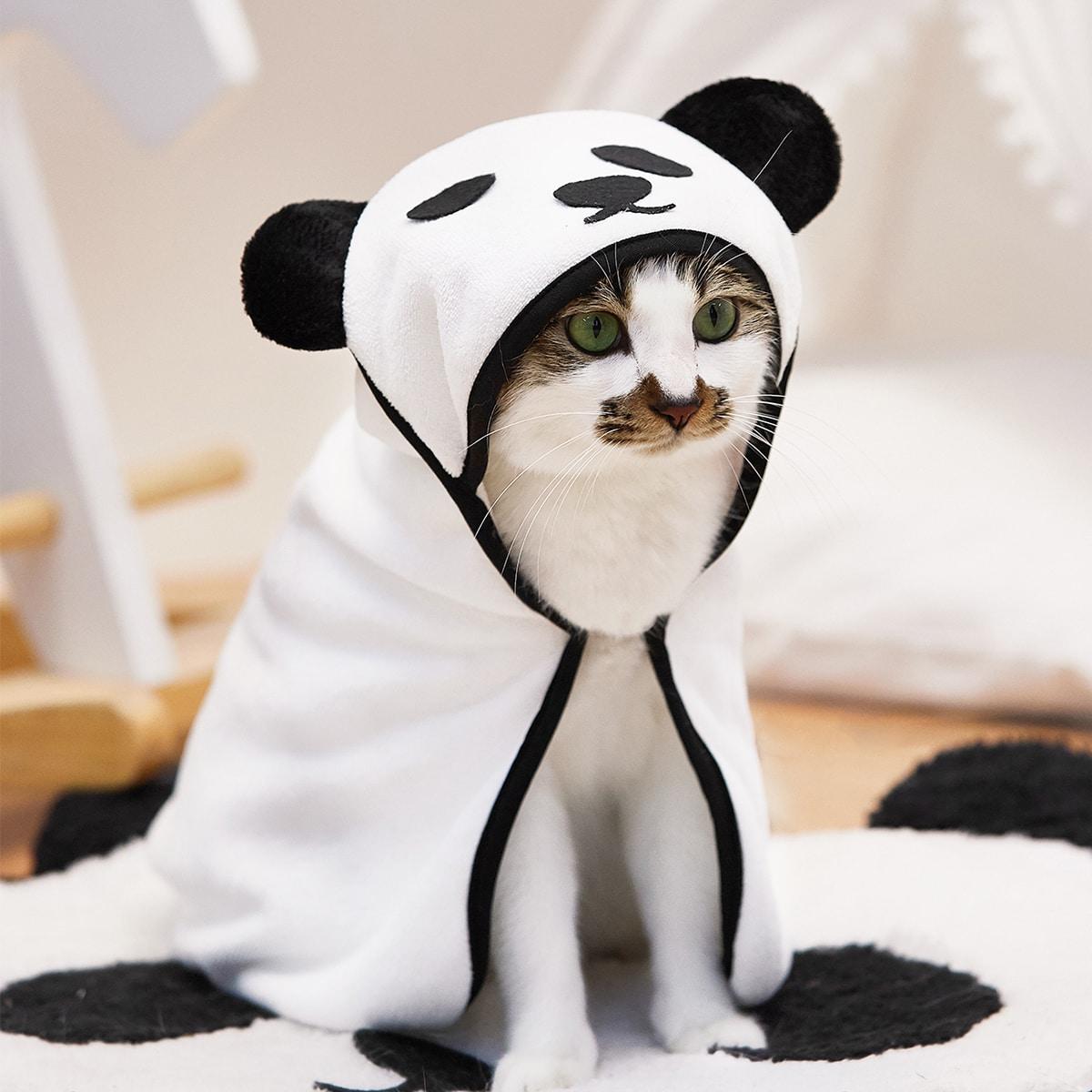 1 Stück Haustier-Badetuch mit Panda Design
