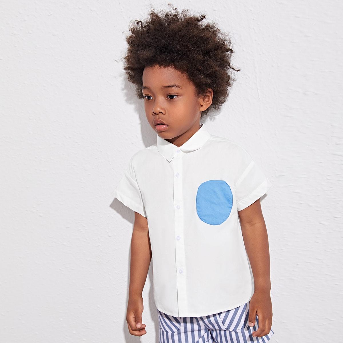 Блузка с карманом для девочек