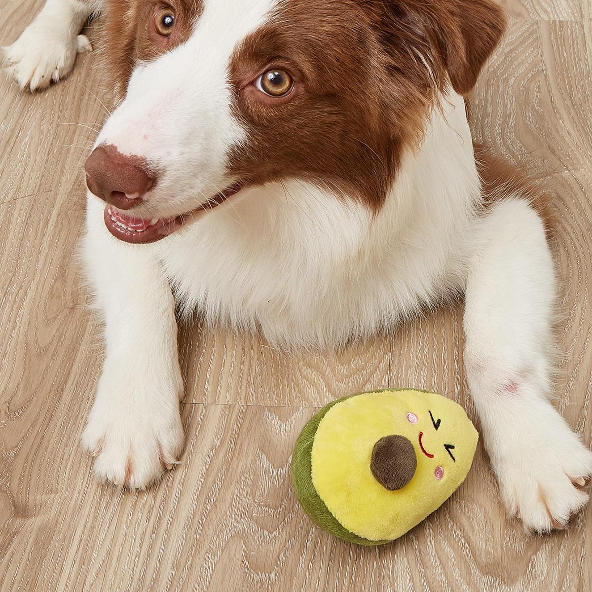 1 Stück Haustier Soundspielzeug mit Avocado Design