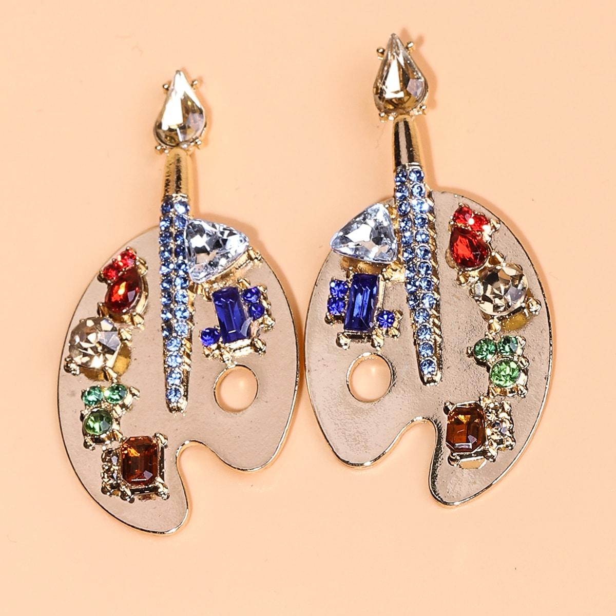 Rhinestone Cartoon Drop Earrings