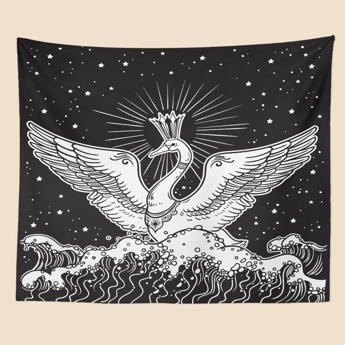 Swan Print Tapestry
