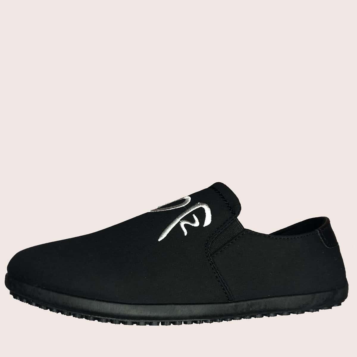 حذاء لوفر مطرز بعبارة للرجال