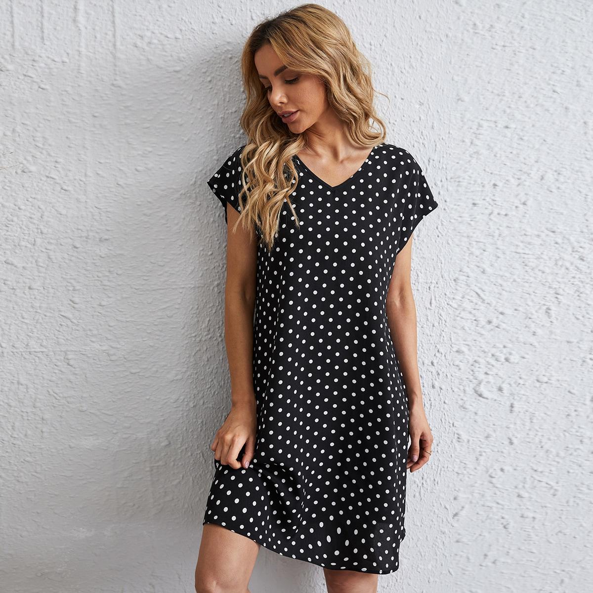 Платье в горошек SheIn swdress07210225015