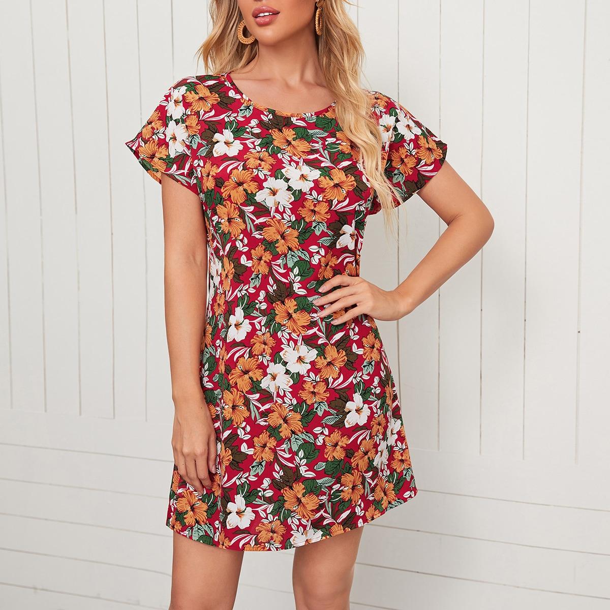 Цветочный принт Бохо Платье по цене 370