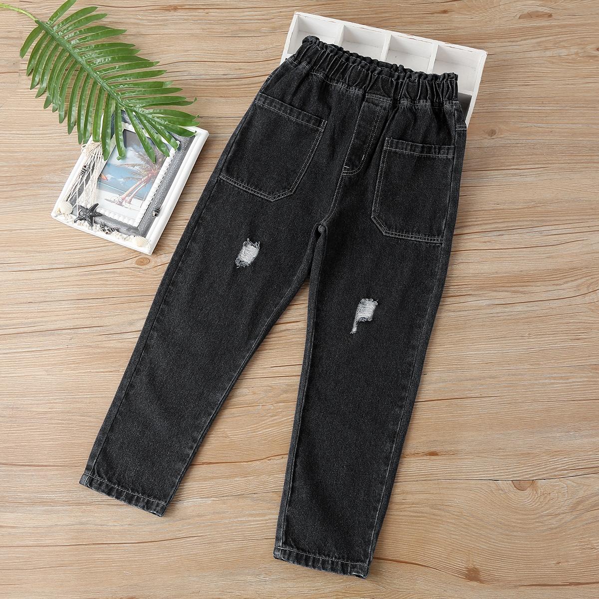 Рваные джинсы с карманами для мальчиков по цене 903