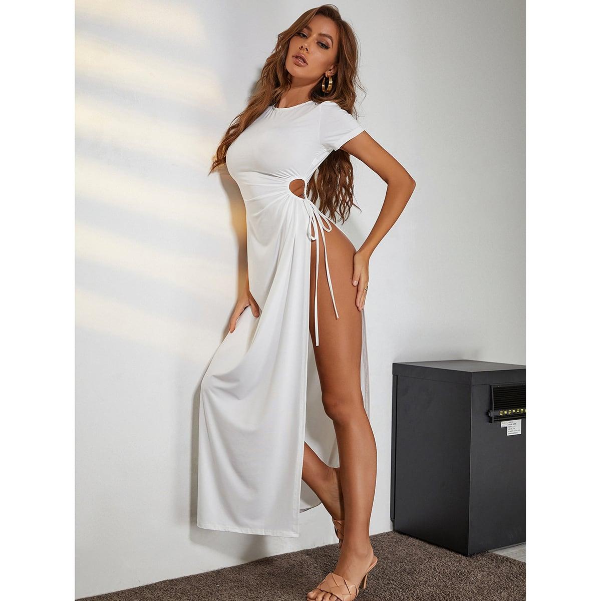 Платье с разрезом высоким разрезом SheIn swdress42210305233