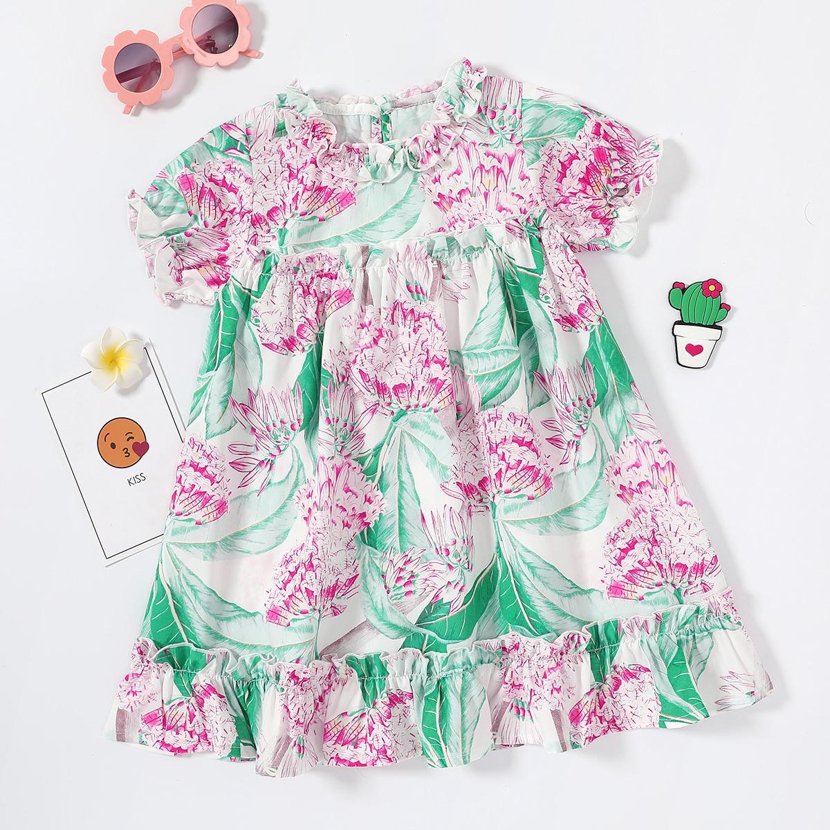 Оборка Цветочный принт Бохо Платья для девочек по цене 688