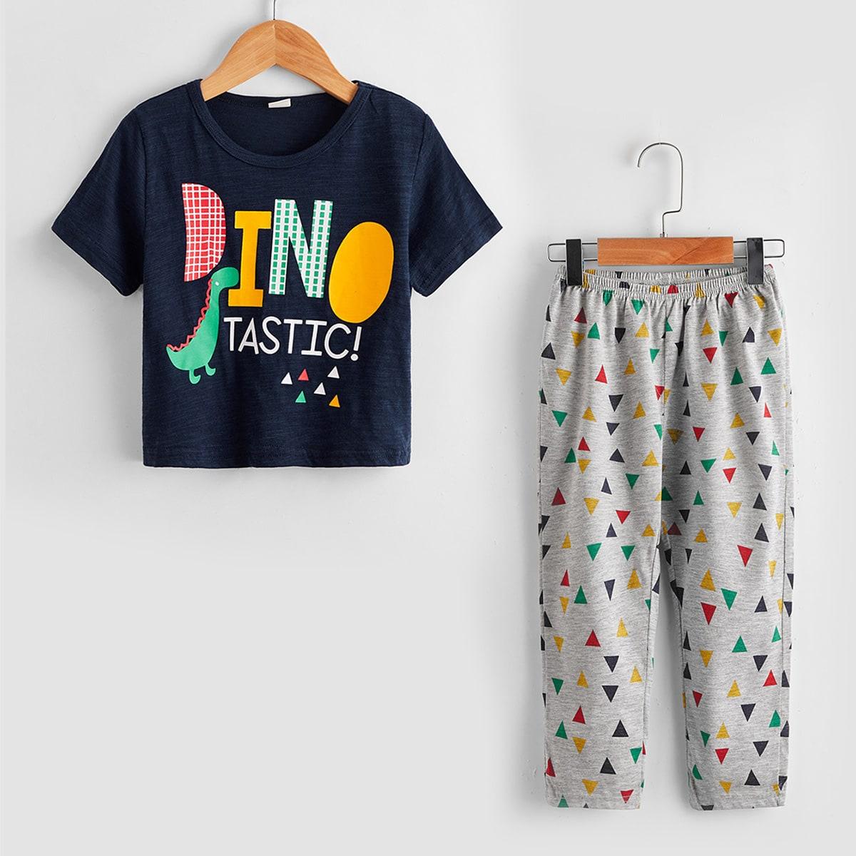Мультяшный принт милый Домашняя одежда для мальчиков по цене 650