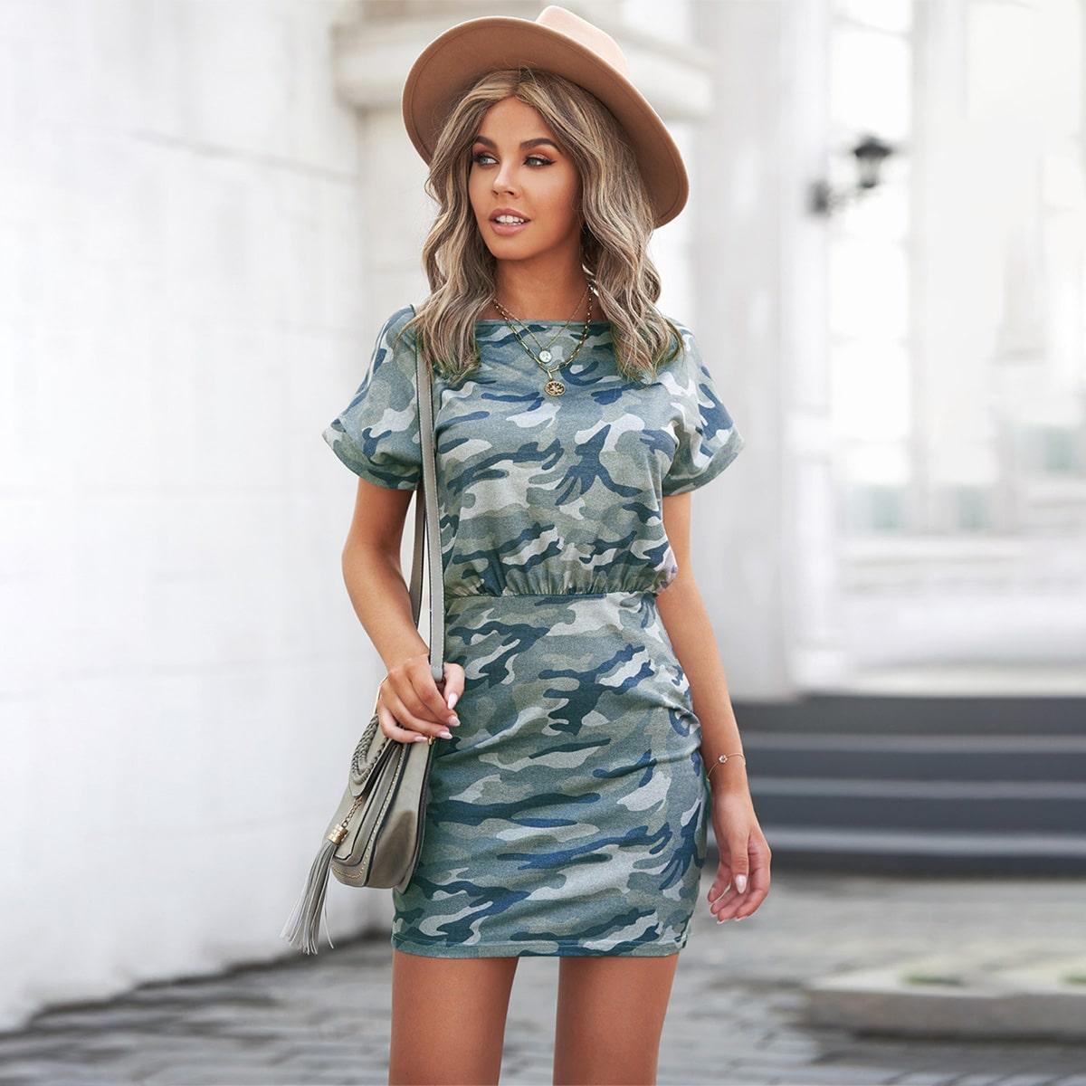 Камуфляж Повседневный Платье по цене 1 220