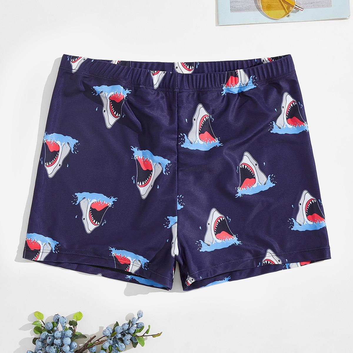 Мужские плавки с принтом акулы