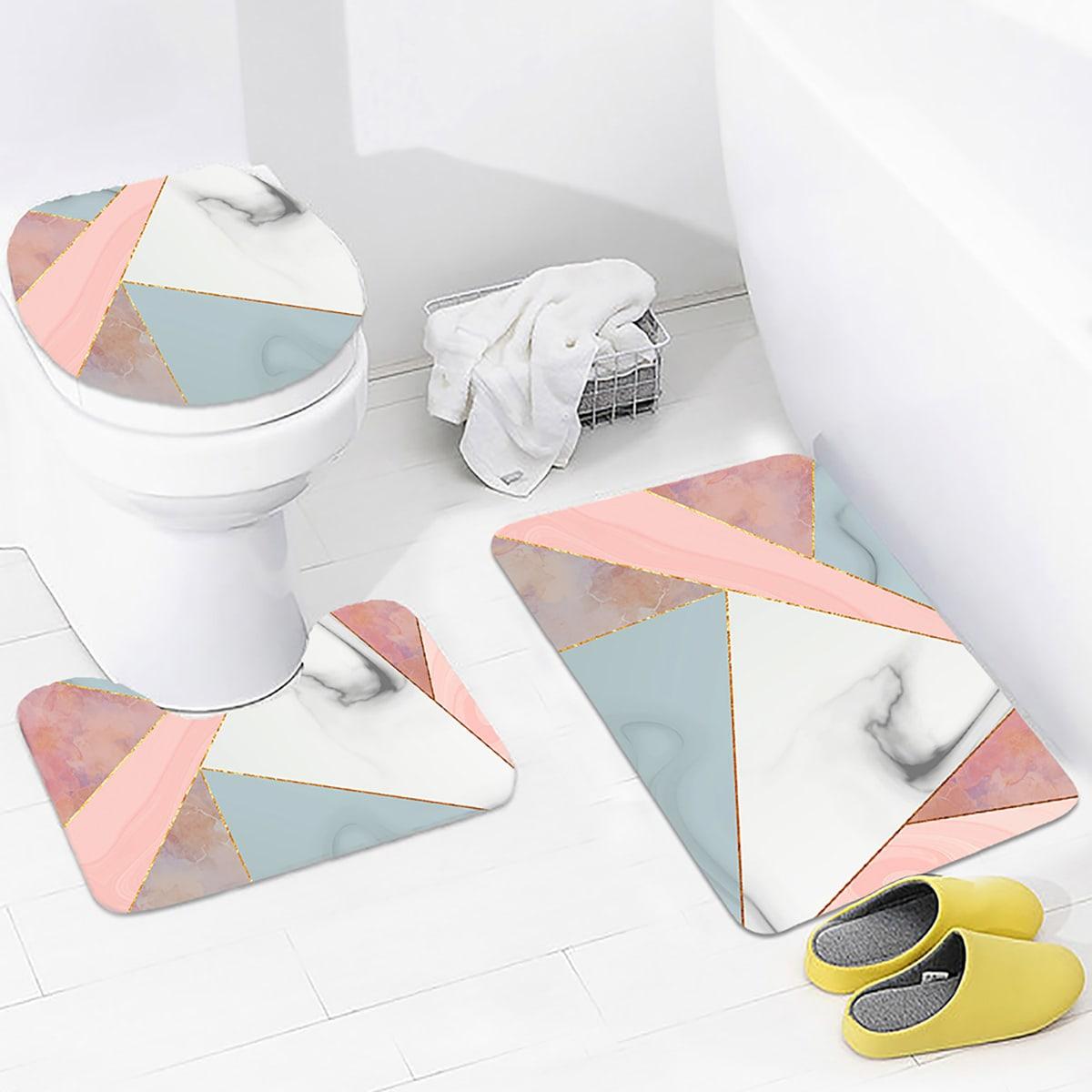 1 Stück Closestool Matte mit Geometrie Muster