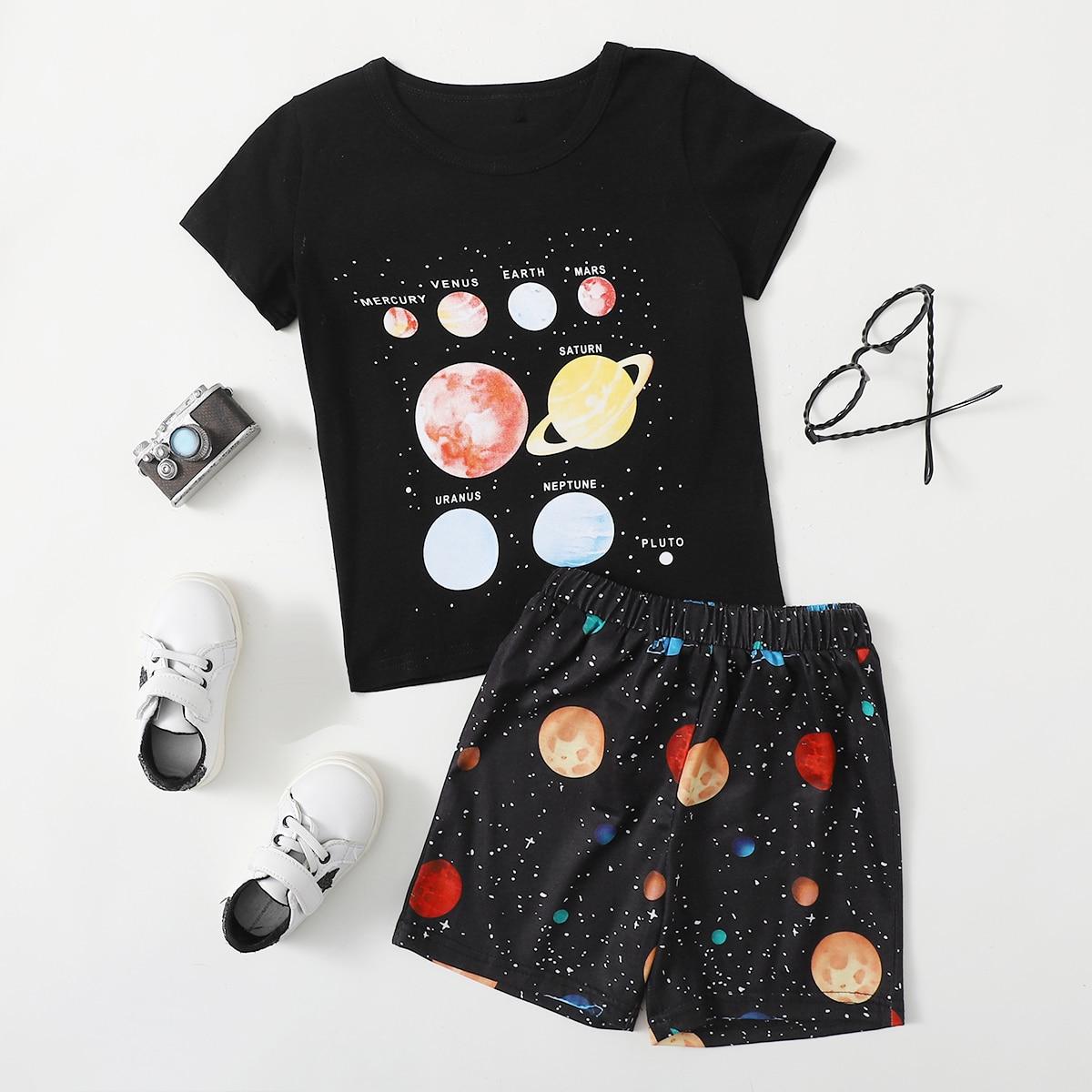 Звёздное небо Повседневный Комплект из двух предметов для мальчиков по цене 710