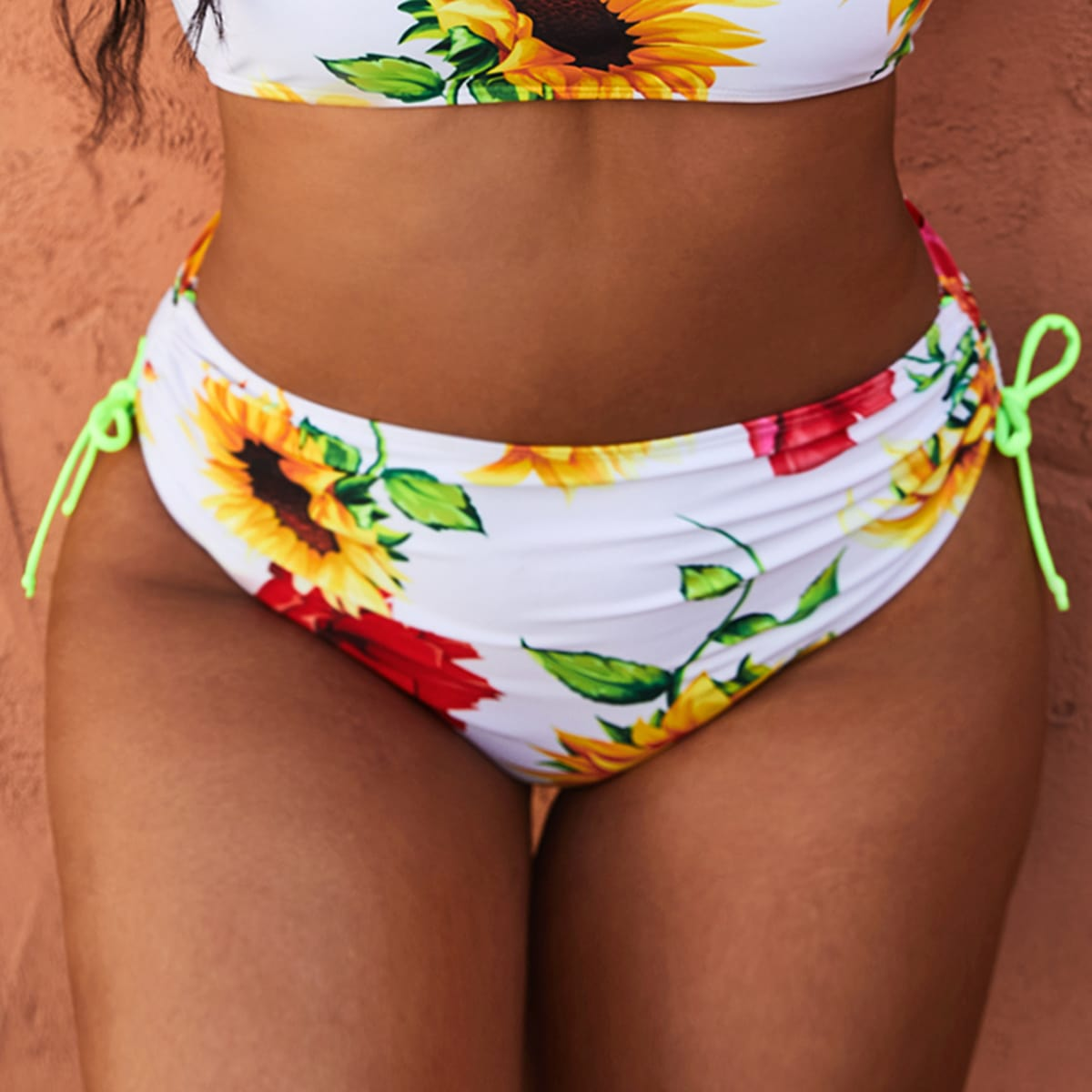 SHEIN Boho Bloemen Grote maat bikini bottom Koord