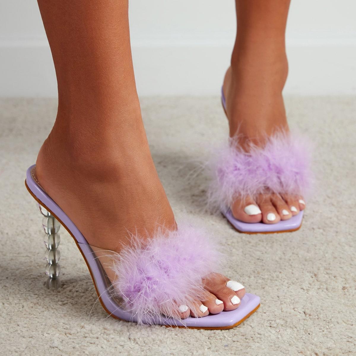 Mule sandali soffici