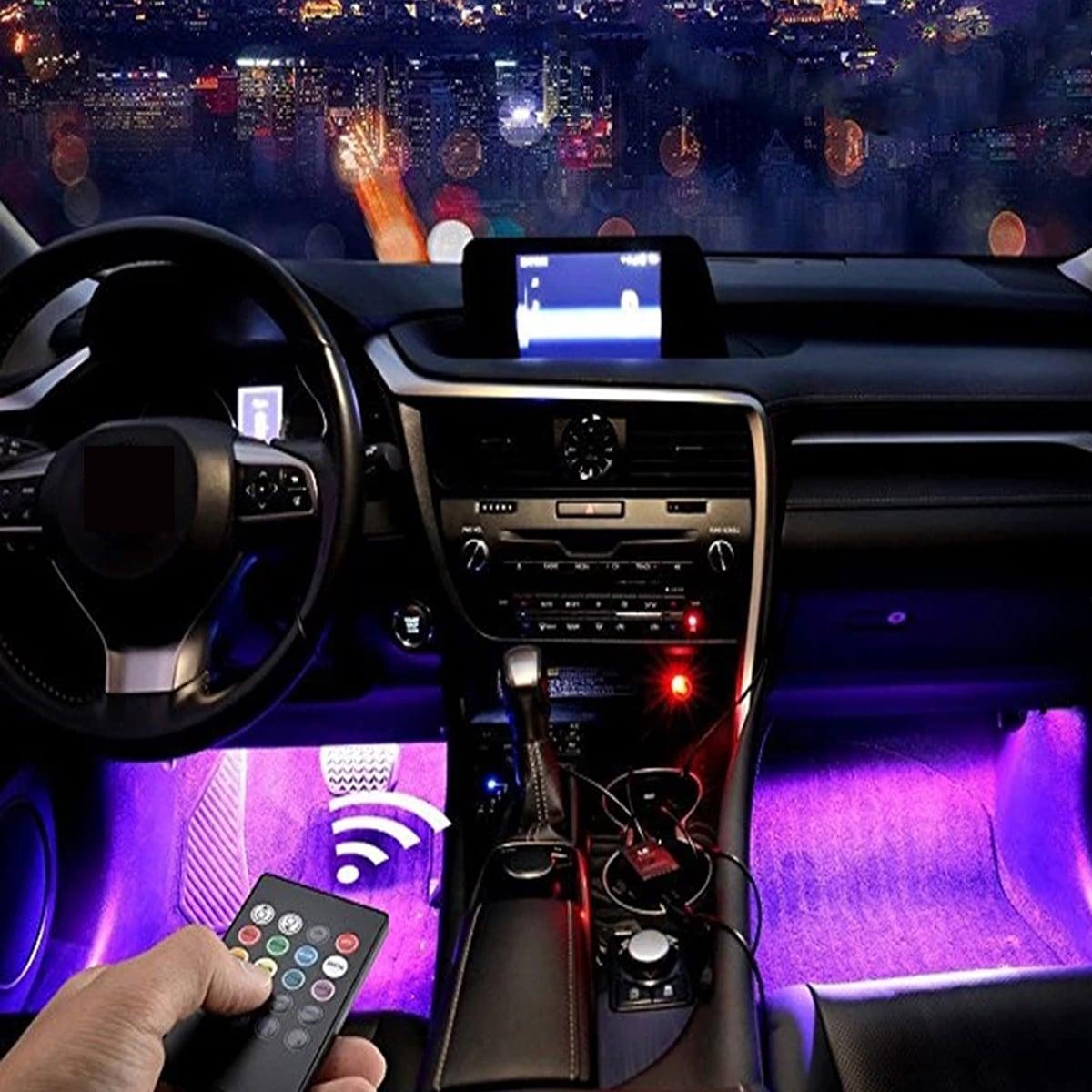 4 Stücke Auto Innen LED-Licht mit Fernbedienung