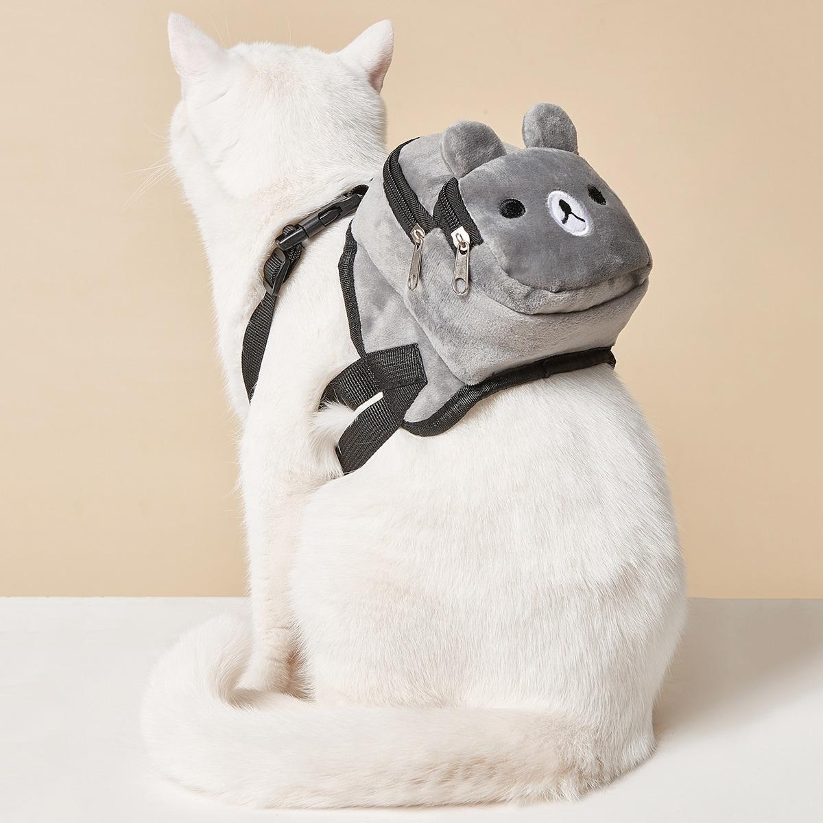 1 Stück Rucksack mit Karikatur Bär Design für Haustiere