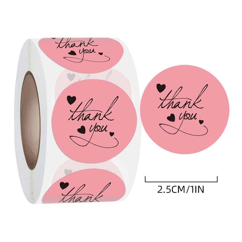 1roll Slogan Graphic Sticker, Pink