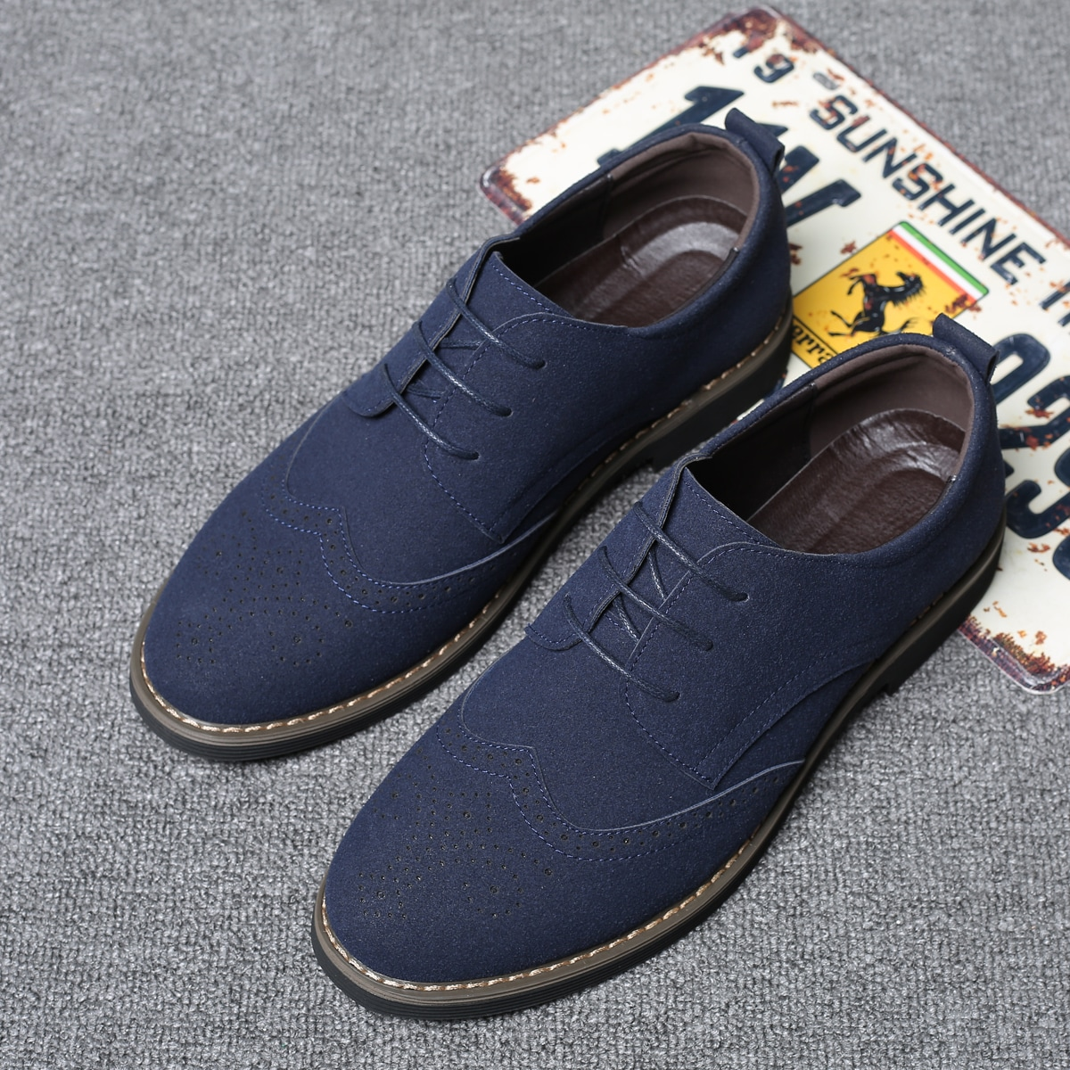 на шнурках Одноцветный Мужская официальная обувь по цене 2 340