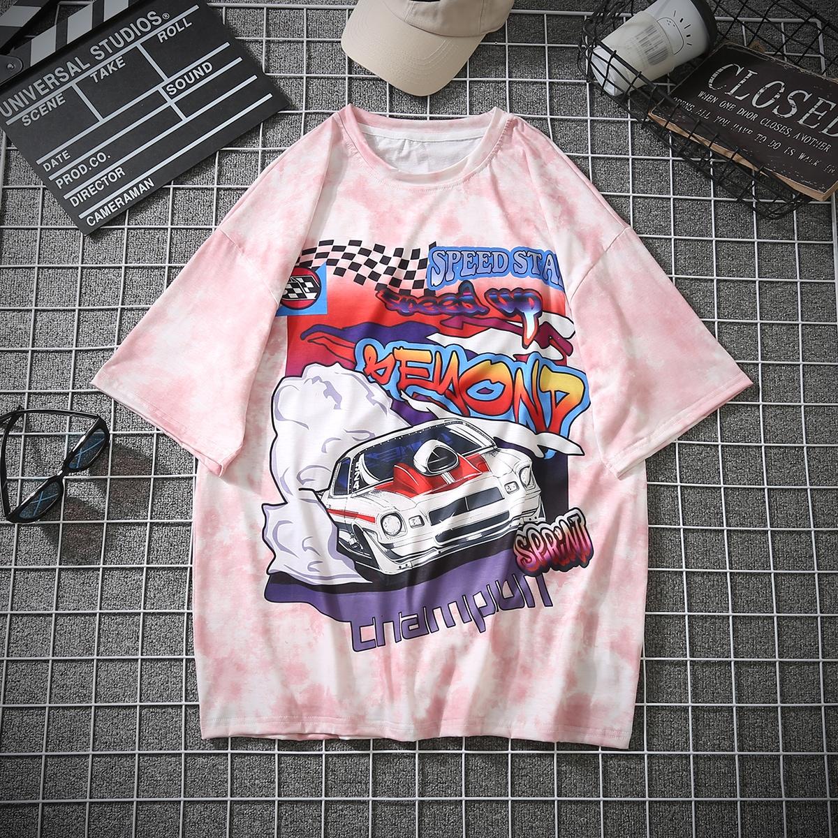 Мужская футболка с оригинальным принтом по цене 920