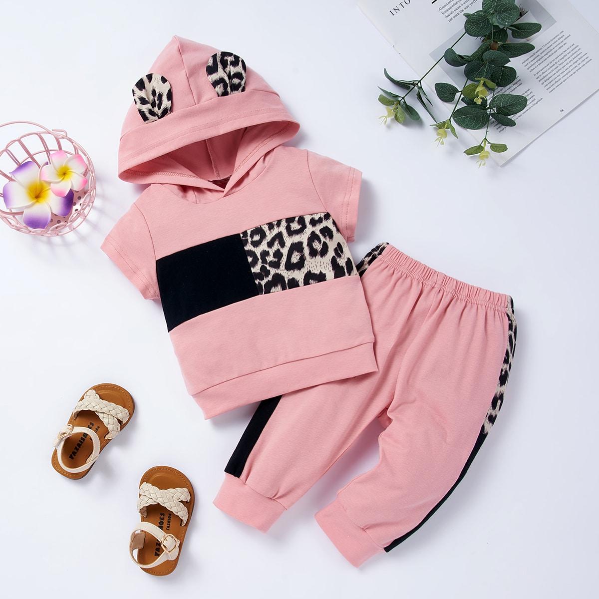 SHEIN Schattig Luipaard Baby-setjes Patched