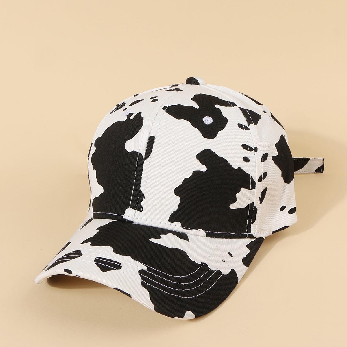 Männer Baseball Kappe mit Kuh Muster
