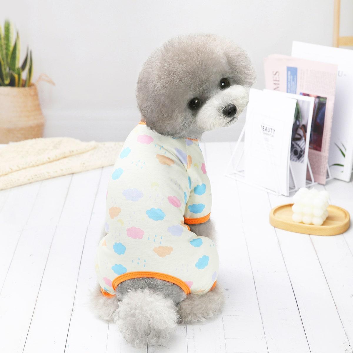 Мультяшный принт Пижама для домашних животных по цене 410