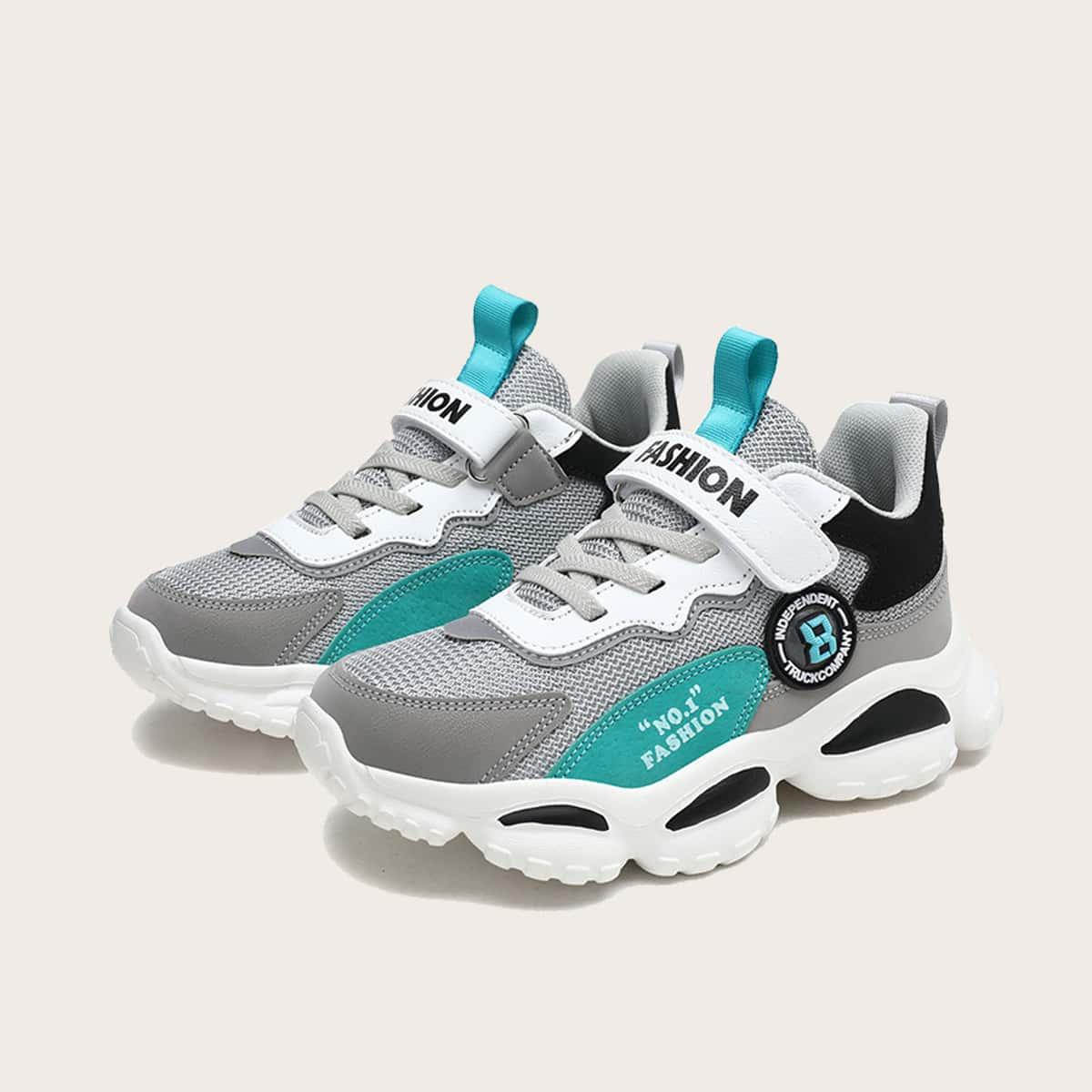 Кроссовки на платформе с текстовым принтом для мальчиков по цене 1 550