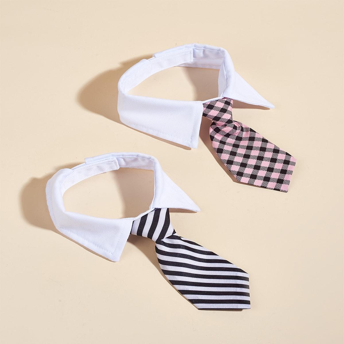 1 Stück Zufällige Krawatte mit Geometrie Muster für Haustiere
