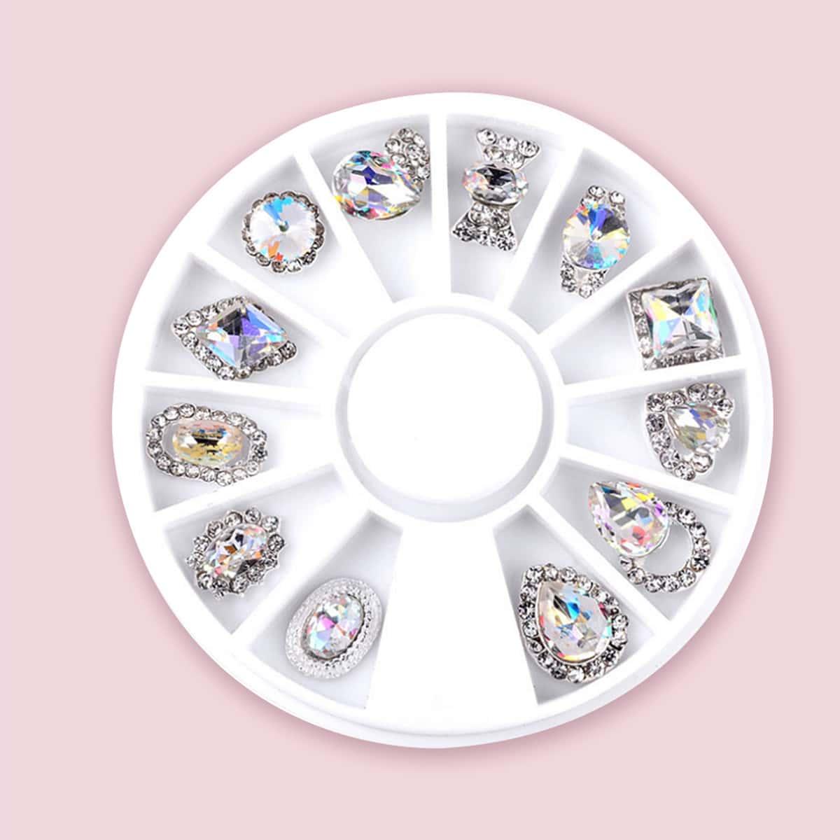 1 коробка украшение для ногтей со стразами по цене 230