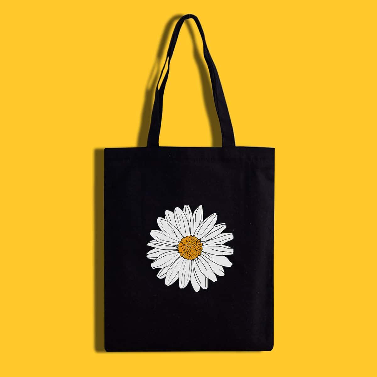 Сумка-шоппер с цветочным принтом по цене 270