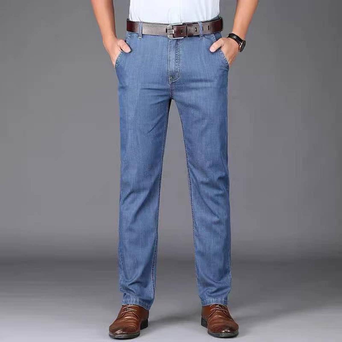SHEIN Casual Vlak Jeans man Zak