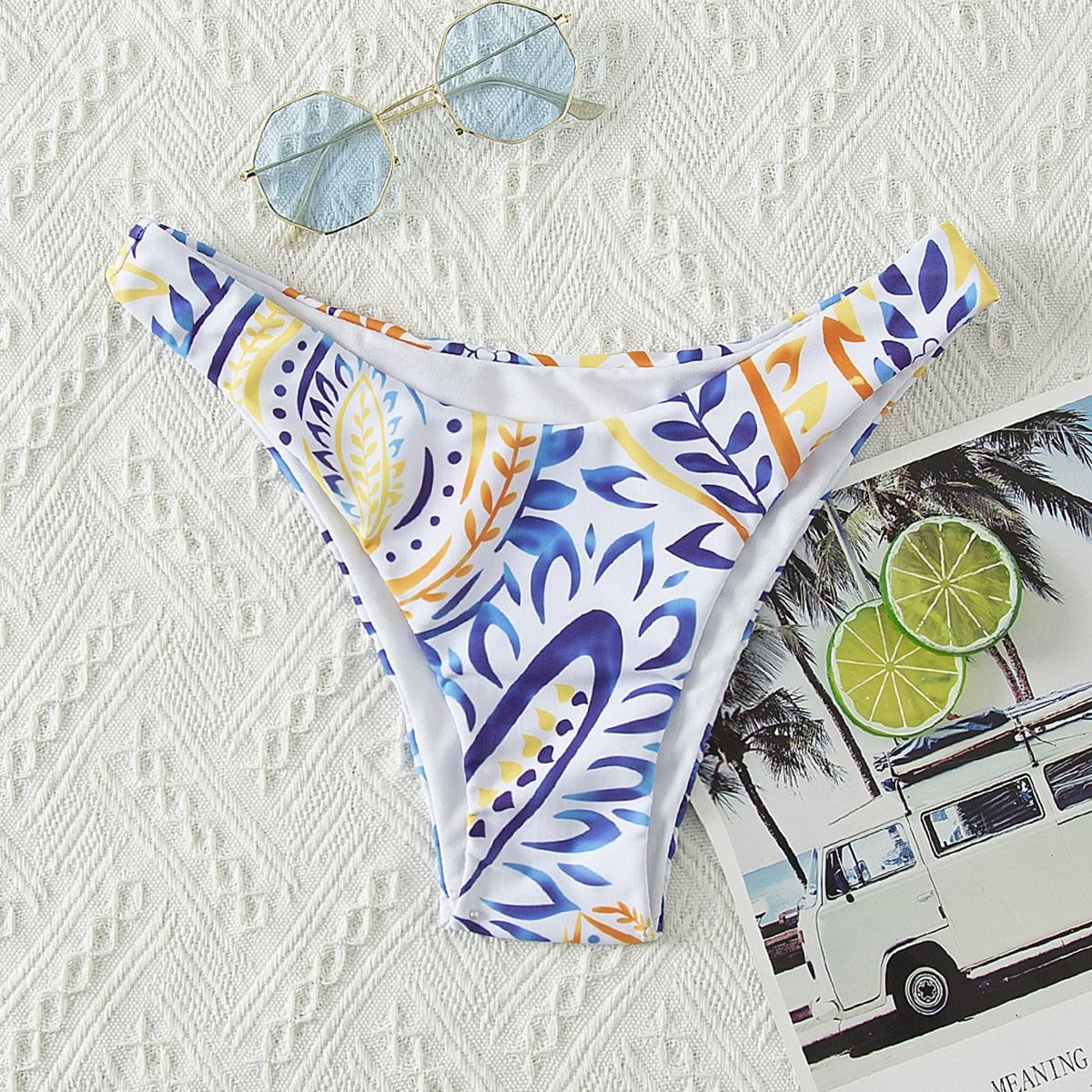 SHEIN Boho Planten Bikini bottom