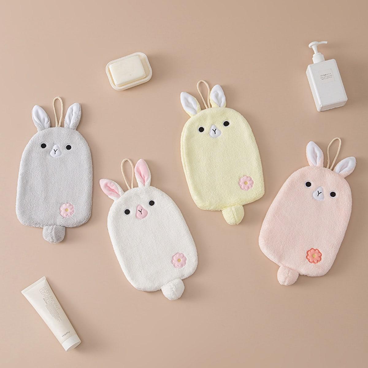 1Pc Rabbit Design Random Color Hand Towel