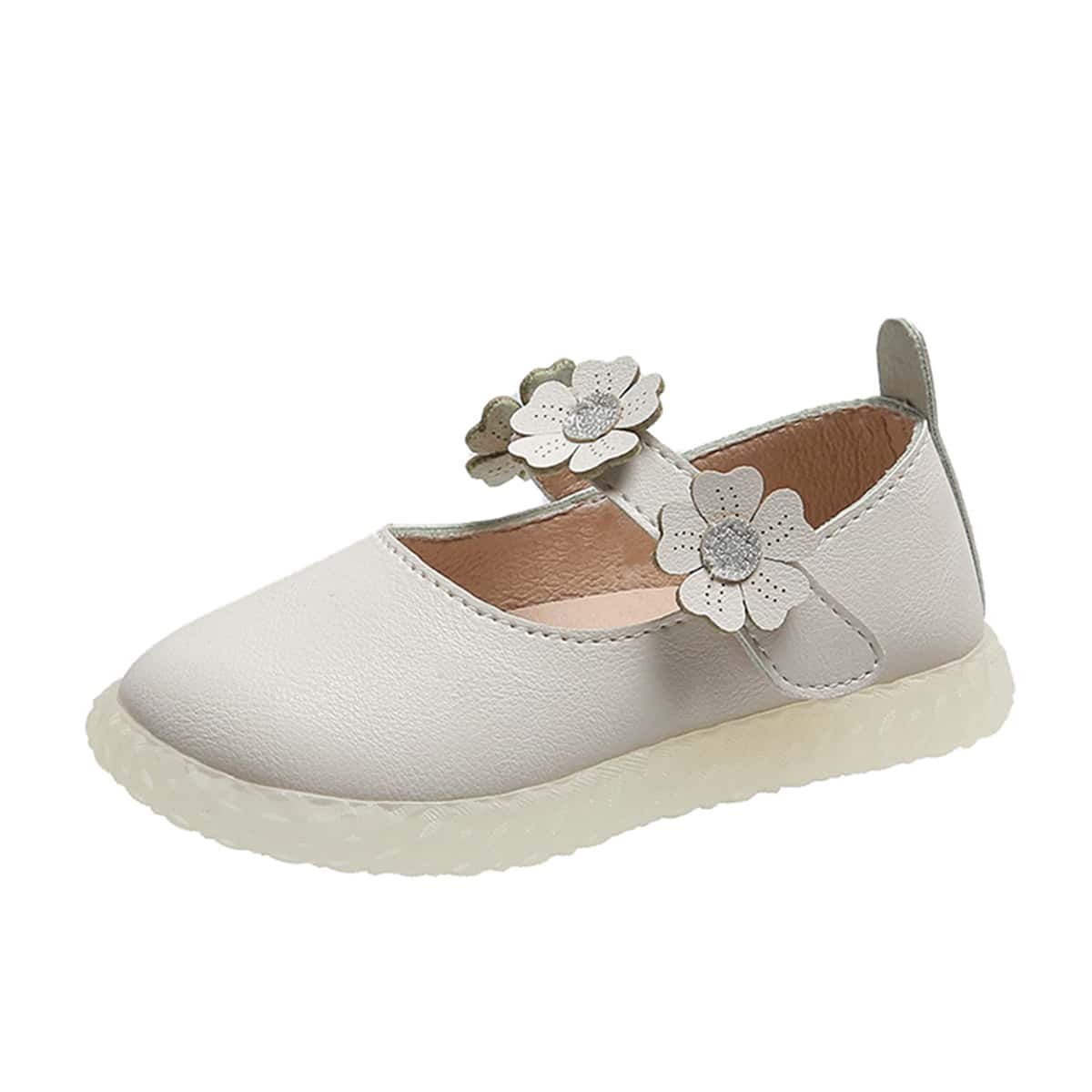 Туфли на липучке с цветочной аппликацией для девочек от SHEIN